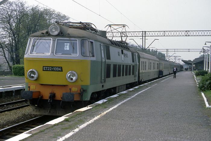 Электровоз PKP ET22-1094 с